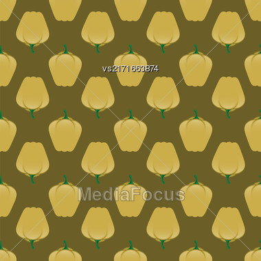 Fresh Green Seamless Pattern On Green Background Stock Photo