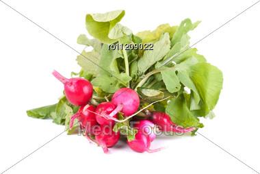Fresh Radishes Stock Photo