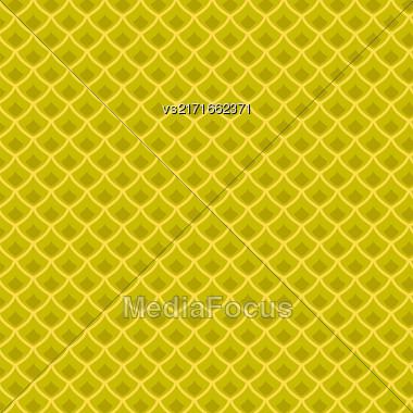 Fresh Ripe Pineapple Pattern. Tropical Fruit Background Stock Photo