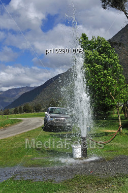 Fresh Water Pumped From A New Bore, Westland Stock Photo