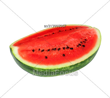 Fresh Watermelon Isolated Stock Photo