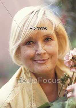 Friendly Senior Smile Stock Photo