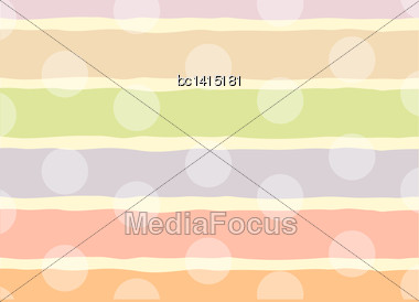 Funny Background With Dots, Vector Illustration Stock Photo
