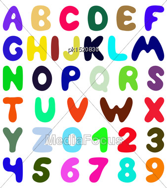 Funny Font Design. Eps 10 Vector Illustration Without Transparency Stock Photo