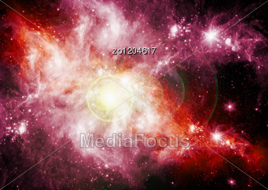 Galaxies And Stars In The Night Sky Stock Photo