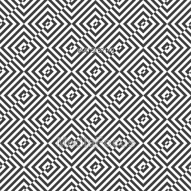 Geometric Background With Black And White Stripes. Seamless Monochrome Pattern With Zebra Effect.Alternating Black And White Diagonally Cut Squares Stock Photo
