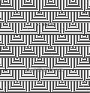 Geometric Background With Black And White Stripes. Seamless Monochrome Pattern With Zebra Effect.Alternating Black And White Triangles Stock Photo