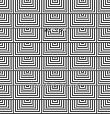 Geometric Background With Black And White Stripes. Seamless Monochrome Pattern With Zebra Effect.Alternating Black And White Half Squares Stock Photo