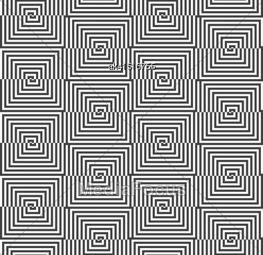 Geometric Background With Black And White Stripes. Seamless Monochrome Pattern With Zebra Effect.Alternating Black And White Half Squares With Shift Stock Photo