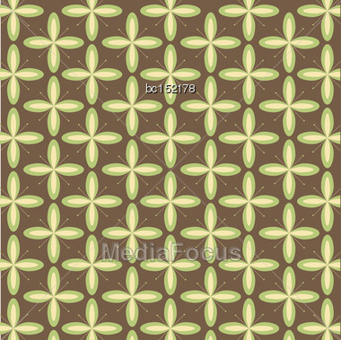 Geometric Background With Flowers, Vector Format Stock Photo