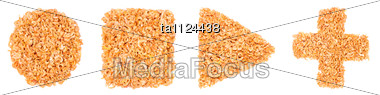 Geometrical Figures Made Of Dried Shrimps Stock Photo