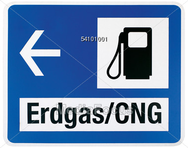 German Gas Pump Sign Stock Photo