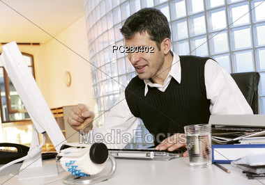 Getting Frustrated Stock Photo