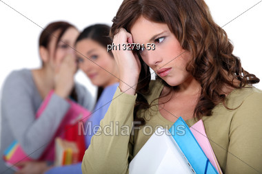 Girl Being Bullied Stock Photo