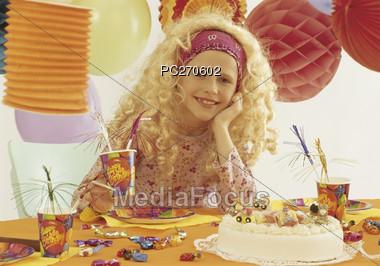 Girl's Birthday Party Stock Photo
