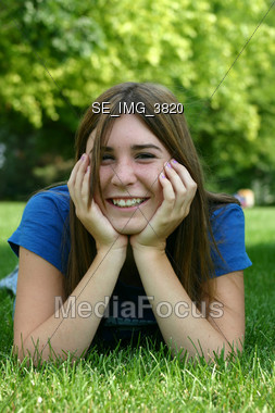 Girl Smiling Stock Photo