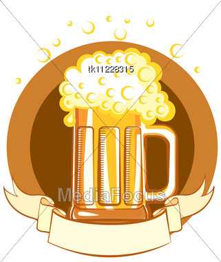 Stock Photo Glass Beer Vector Color Symbol Illustration Image