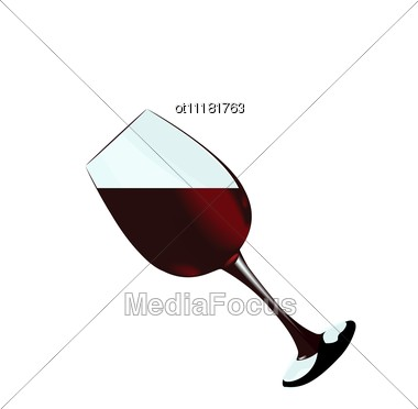 Glass Of Red Wine Of Stock Photo
