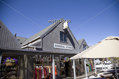 Glenorchy New Zealand General Store Mount Aspiring Area Stock Photo