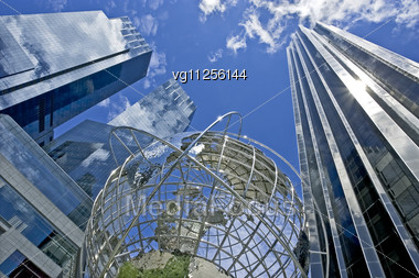 Globe At The Columbus Circle In New York City Stock Photo