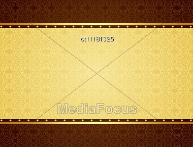 Gold Background For Design Of Cards And Invitation Stock Photo