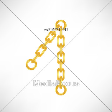 Gold Number 1 Isolated On White Background Stock Photo