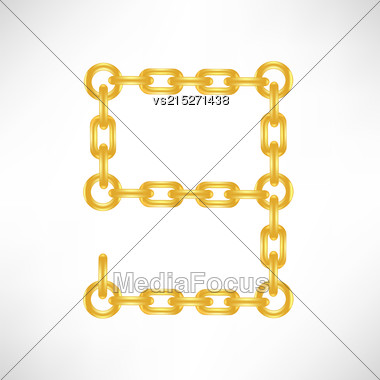 Gold Number 9 Isolated On White Background Stock Photo
