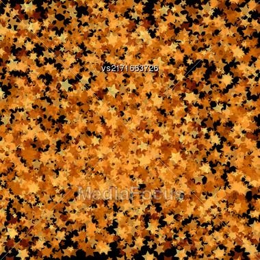 Gold Transparent Stars. Yellow Stars Background. Abstract Stars Patterns Stock Photo