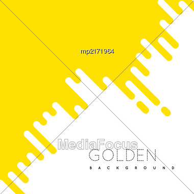 Golden Irregular Rounded Lines Background. Vector Illustraion Stock Photo