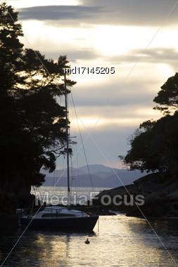 Golden Sand Beach New Zealand Abel Tasman National Park Stock Photo