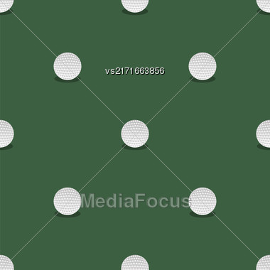 Golf Seamless Pattern. Summer Sport Background. Balls Isolated Stock Photo