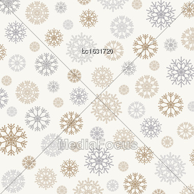 Gorgeous Snowflakes Background, Vector Format Stock Photo