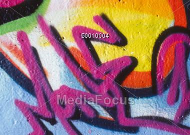 Graffiti Modern Art Stock Photo