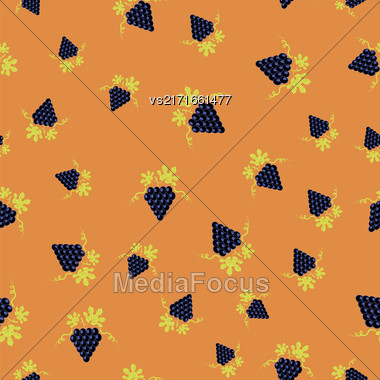 Grapes Seamless Pattern. Vine Background. Fruits And Vegetables Texture Stock Photo