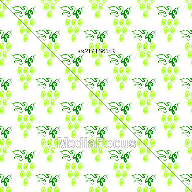 Grapes Seamless Pattern. Vine Background. Fruits And Vegetables Texture. Silhouettes Of Grapes Stock Photo