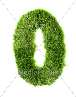 Grass Digit - 0 Stock Photo