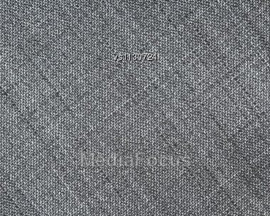Gray Fabric Texture. Clothes Background. Close Up Stock Photo