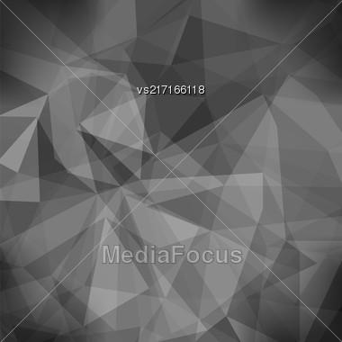 Gray Light Polygonal Mosaic Background. Business Design Templates. Triangular Geometric Pattern Stock Photo