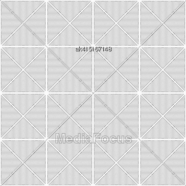 Gray Seamless Geometrical Pattern. Simple Monochrome Texture. Abstract Background.Slim Gray Wavy Striped Triangles In Row Stock Photo