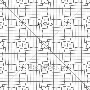 Gray Seamless Geometrical Pattern. Simple Monochrome Texture. Abstract Background.Slim Gray Checkered Rectangle Pin Will Stock Photo