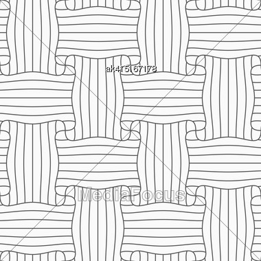 Gray Seamless Geometrical Pattern. Simple Monochrome Texture. Abstract Background.Slim Gray Striped Rectangle Pin Will Stock Photo