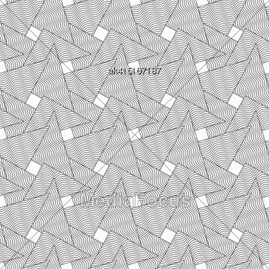 Gray Seamless Geometrical Pattern. Simple Monochrome Texture. Abstract Background.Slim Gray Wavy Striped Overlapping Triangles Stock Photo