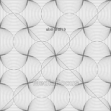 Gray Seamless Geometrical Pattern. Simple Monochrome Texture. Abstract Background.Slim Gray Striped Pin Will Stock Photo