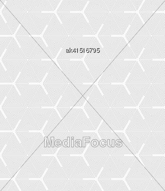 Gray Seamless Geometrical Pattern. Simple Monochrome Texture. Abstract Background.Slim Gray Triangle Spirals Forming Texture Stock Photo