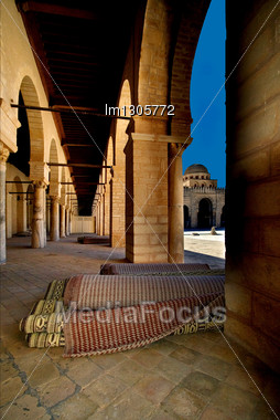Great Mosque Of Kairouan Tunisia The Fourth Most Sacred Place Of Islam Stock Photo