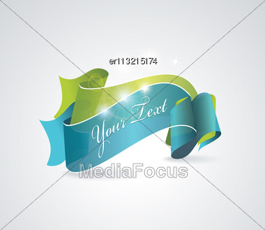 Green And Blue Transparent Ribbons Stock Photo