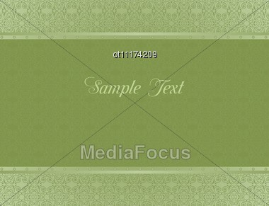Green Background For Design Of Cards And Invitation Stock Photo