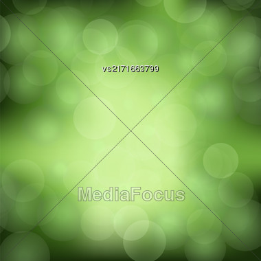Green Blurred Light Background. Abstract Flare Pattern Stock Photo