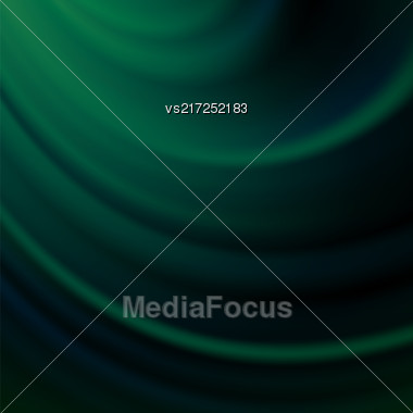 Green Blurred Wave Background. Soft Satin Pattern Stock Photo