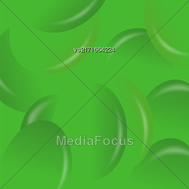 Green Candy Background. Set Of Green Jelly Beans Stock Photo